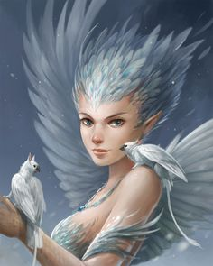 Snowy Harpy by sandara