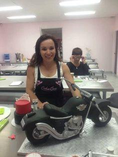 3d Cakes, Cupcake Cakes, Torta Harley Davidson, Bubble Cake, Motorcycle Cake, Bike Cakes, Cross Cakes, Teapot Cake, 40th Cake