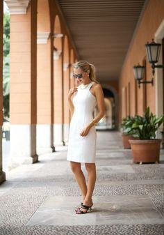 Zara white sheath