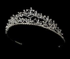 Crystal Lacy Heart Tiara