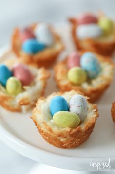 Mar 2020 - Coconut Macaroon Nests a classic dessert recipe for celebrating spring and Easter Desserts Ostern, Köstliche Desserts, Delicious Desserts, Dessert Recipes, Easter Desserts, Easter Appetizers, Appetizer Recipes, Easter Recipes, Holiday Recipes