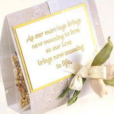 Birdseed Wedding Favors