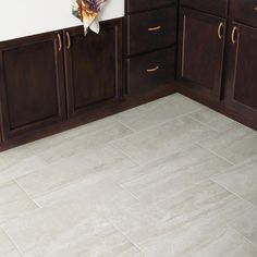 Daltile Northpointe Greystone 12 in. x 24 in. Porcelain Floor and Wall Tile sq. / - The Home Depot Black Kitchen Cabinets, Black Kitchens, Bedroom Floor Tiles, Kitchen Models, Kitchen Flooring, Tile Flooring, Tile Design, Wall Tiles, Kitchen Design
