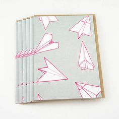 set of six plane pattern greetings cards by sparrow + wolf   notonthehighstreet.com