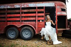 Cool idea for the country gal on her wedding day.
