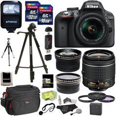 nice Nikon D3300 AF-P Digital SLR Camera with 18-55mm DX VR II Zoom Lens +Accessories   Check more at http://harmonisproduction.com/nikon-d3300-af-p-digital-slr-camera-with-18-55mm-dx-vr-ii-zoom-lens-accessories/