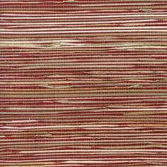 allen   roth Red Grasscloth Unpasted Textured Wallpaper