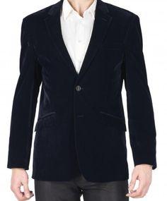 Blue velvet vest 41,65€