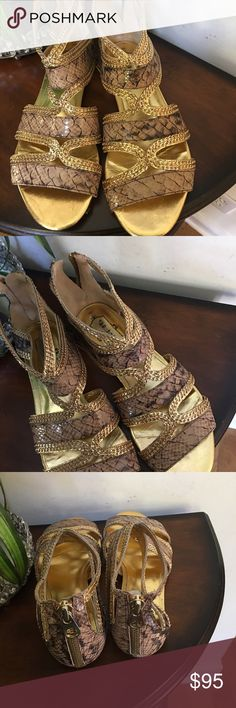 🌺🎀NWT Ted Baker Langley Court Gold Sandals 🌺🎀 🌺🎀NWT Ted Baker Langley Court Gold Sandals 🌺🎀 Ted Baker Shoes Sandals