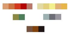 According to chibirhm.livejournal.com, these are the colors used in art nouveau.  Period. (Also, good site to visit)