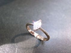 Engagement Diamond Ring in 14K Rose Gold by honngaijewelry on Etsy, $1,720.00