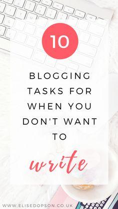 blogging tasks that aren't writing | blogging tips | running a blog