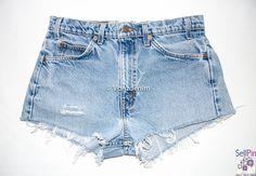 $39.99: Vintage High Waisted Denim Shorts, Distressed Vintage Shorts, Blue Jeans Shorts, Plus Size High Waisted Denim Shorts, Hi