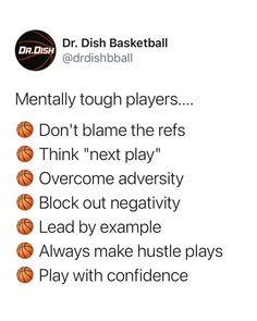These are all things that mentally tough basketball players do! Do you do all these things? #bball #drdishbasketball #basketball #basketballmotivation #basketballquotes #sports #mentalstrength #mentaltraining