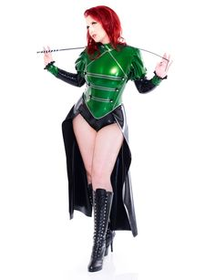 The Green Lady - #Military Body - also available in every other colour ;) #latex #rubber #uniform #fetish #fetisch #fetishfashion #IsabeauOuvert #fishnet #redhead #boots #stiefel #domina #green #mistress #sexy #curvy Model: Domina Miss Leonie Picture: Stefan Weeber