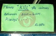 Kill the aircon. Funny English Signs, Funny Pinoy, Funny Filipino Pictures, Tagalog jokes, Pinoy Humor pinoy jokes #pinoy #pinay #Philippines #funny #pinoyjoke