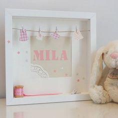 Cadre décoratif personnalisable, pour chambre d'enfant. Cadeau de naissance by Little Belette