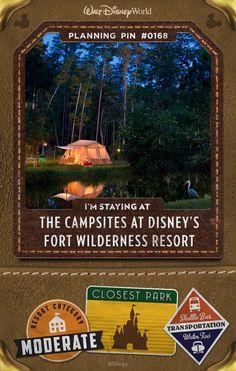 Walt Disney World Planning Pins: The Campsite at Disney's Fort Wilderness Resort