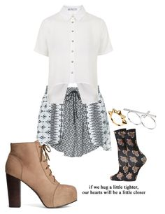 """""""☆"""" by bluveraa ❤ liked on Polyvore featuring Zara, H&M, Rare London, Topshop and ASOS"""
