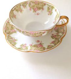 French Haviland & Co. Limoges France Tea Cup and Saucer Cottage Style - Google Search