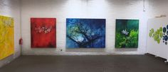 BLOOM exhibition #Red #Blue #Green #blossoms Flourish, Blossoms, Blue Green, My Arts, Van, Symbols, Nature, Plants, Painting