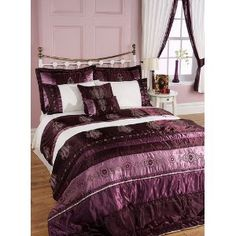 Image detail for -Shauna Patchwork Purple Plum Aubergine Super King Size Bedspread Set ...