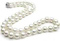 White Cultured Freshwater Pearl Necklace 7.0-mm 8.0mm AAA