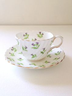 Antique Aynsley English Bone China Teacup and Saucer Tea Party - c. 1934 - 1950s