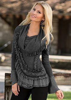 Ruffle sweater from Venus