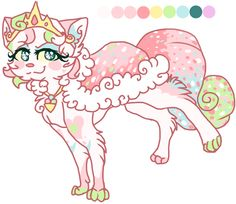 Ice cream kitten adoptable by Klaracrystalpaws on deviantART