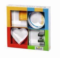 Birkmann Set of Four Love Letter Cookie Cutters:Amazon:Home & Kitchen