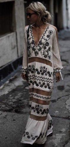 #summer #boho #chic #style | Paneled Maxi Dress
