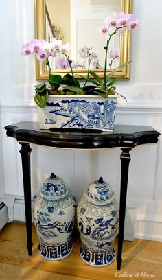 Blue and white from @Jennifer Milsaps L Milsaps L @ The Pink Pagoda