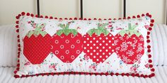 /strawberry social pillow | Flickr - Photo Sharing!