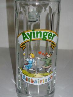 AYINGER Altbairisch Beer Glass Mug Stein 0.3 L RASTAL Bavaria Germany Mint