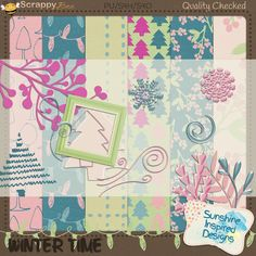 Winter Time Add On by Sunshine Inspired Designs is perfect for winter and even Christmas pages. It is perfect for both boys and girls, adults and children! This add on will give you wonderful backdrop for winter inspired layouts.   Winter Time Add On includes: 6 digital papers and 28 elements.