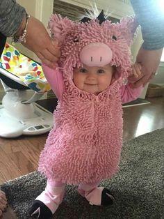Hermoso disfraz de puerquito para bebe