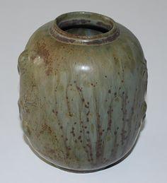 Arne Bang, vase in stoneware. Made in the studi in Holmegaard Denmark in the 1930th.