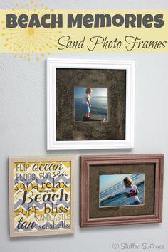 DIY Sand Photo Frames for a souvenir displaying your Beach Vacation Memories | Stuffed Suitcase via KristenDuke.com