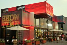 Taking A Peek Into Dubai's Box Park - Very Hungry Explorer Container Architecture, Architecture 101, Container Buildings, Shipping Container Restaurant, Shipping Container Design, Shipping Containers, Container Shop, Container House Design, Box Park