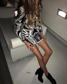 """Pin for Later: All Your Favorite Style Stars Went HAM Shopping Balmain x H&M Last Night And 'Grammed After the Party """"Balmain by night #HMBALMAINATION,"""" Kaia shared on Instagram."""