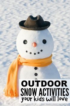 If you're looking for boredom busters for kids for snow days, or any other winter day when there's too much snow on the ground than you know what to do with, this collection of outdoor snow activities for kids is just what you need!