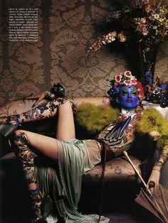 ☆ Karen Elson | Photography by Steven Klein | For Vogue Magazine Italy | March 2004 ☆ #Karen_Elson #Steven_Klein #Vogue #2004