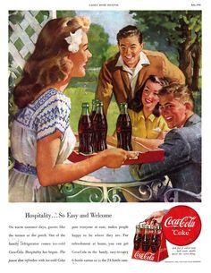 Vintage Coca Cola Ad - Illustrator, Haddon Sundblom