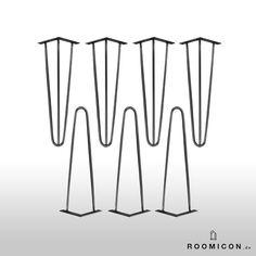 4 x en épingle à cheveux jambes jambes jambes 35 cm par Roomicon