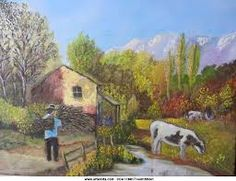 Resultado de imagen para imagenes de paisajes pintados con pasteles