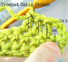 Crochet Cable Stitch Tutorial - step 1
