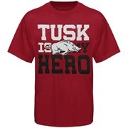 Arkansas Razorbacks Youth Tusk Is My Hero T-Shirt - Cardinal @Fanatics #FanaticsWishList