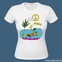 koszulka T-shirt kolorowa PEACE ŁĄKA Make Love, How To Make, Mens Tops, T Shirt, Women, Meditation, Van, Fashion, Supreme T Shirt