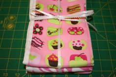 Set of Burp Cloths for Baby Girl by Gammysshop on Etsy